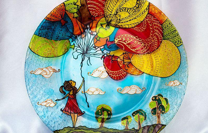 Рисунки для росписи по тарелкам
