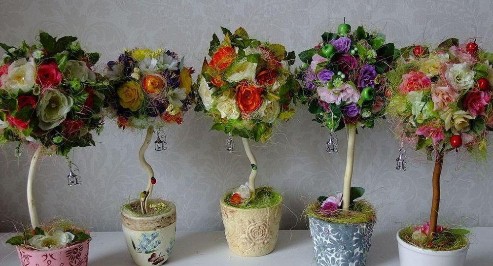 Деревья из цветов своими руками