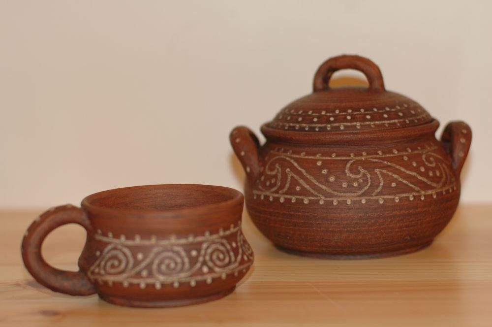 Лепим из глины трипольские чаши
