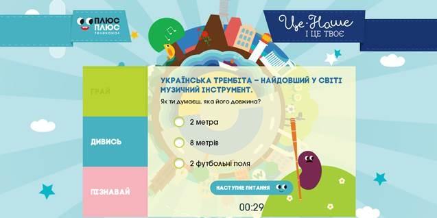 Онлайн-тест про Украину для детей