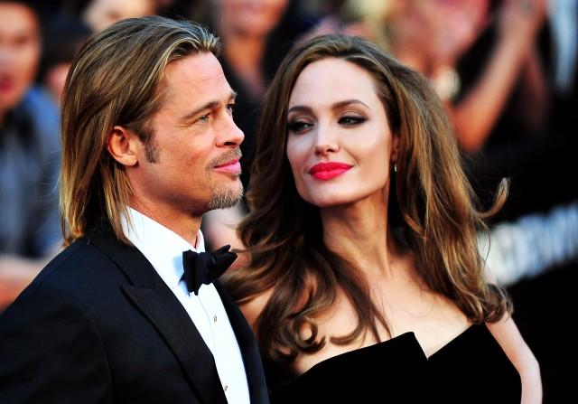 Brad Pitt y Angelina Jolie en los Oscar en la 84 ª a 84 ª ceremonia de los Oscar en Los Angeles