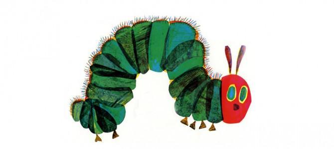"WoMo-книга: ""Дуже голодна гусениця"", Эрик Карл"