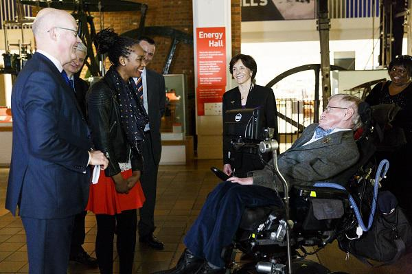 London's Official Guest of Honour Tours The Science Museum With The World's Most Famous Physicist Stephen Hawking