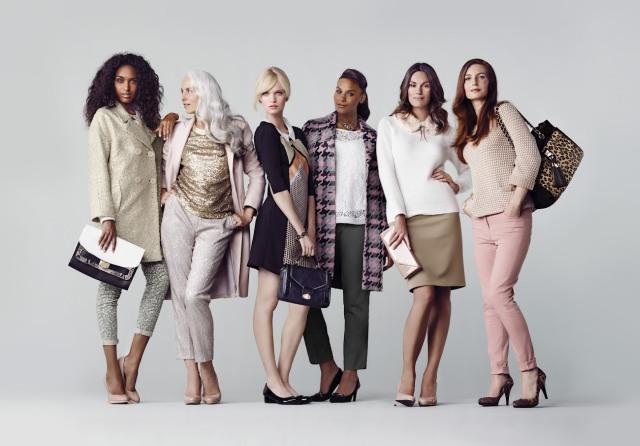 M&S campaign. Yasmina Rossi. Angela Dunn