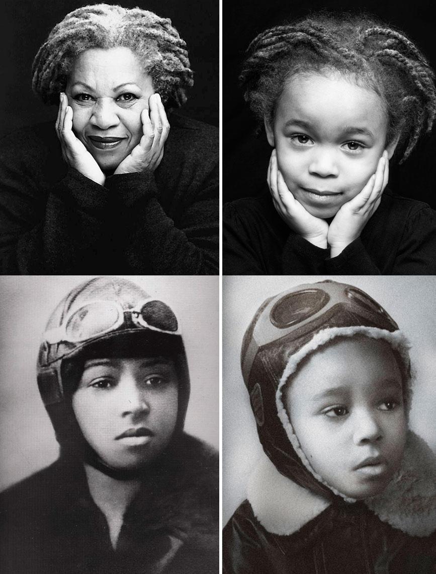 Фотопроект: Пятилетняя малышка в образах выдающихся женщин