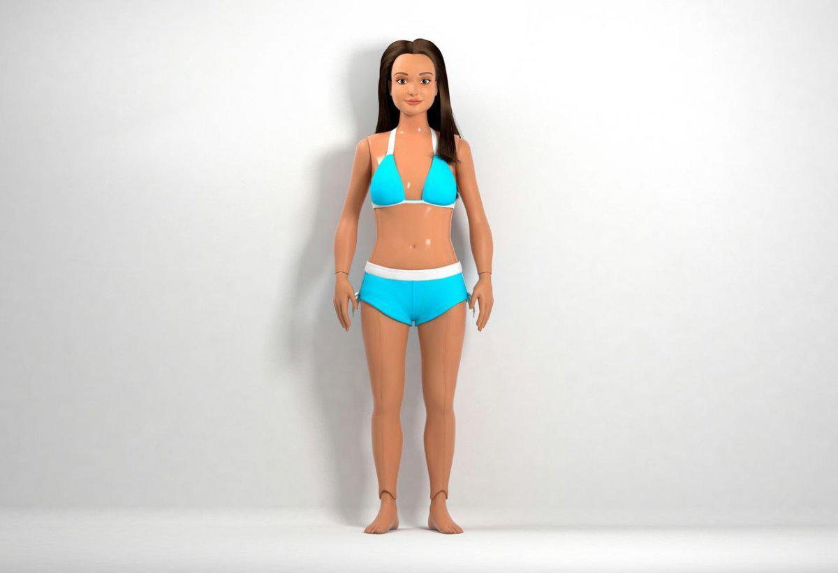 Обыкновенная Барби: Ниже рост, шире талия, короче шея, темнее волосы