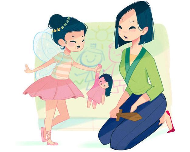 Если бы диснеевские принцессы были мамами...