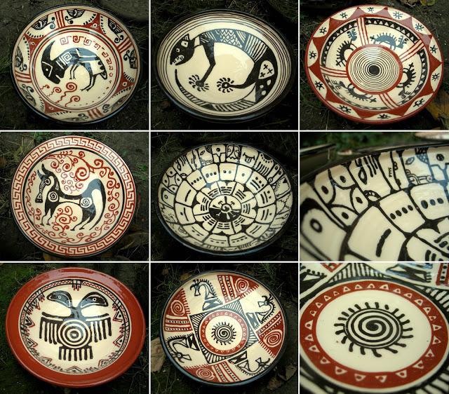 Роспись по глине посуда