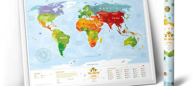 WoMo-находка: Развивающая карта мира для детей