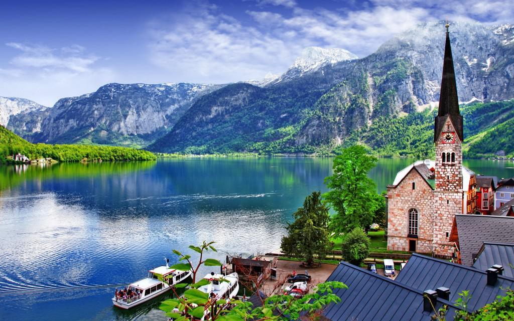 Hallstatt-austria Wide Desktop Background
