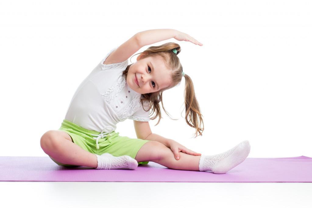 Kid doing fitness exercises