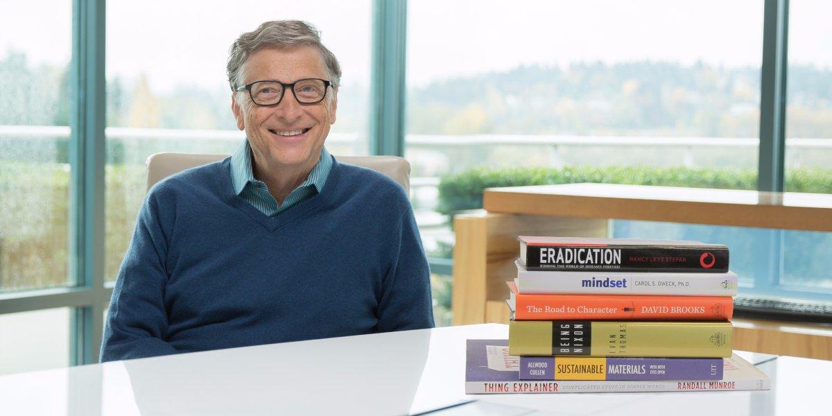 Что читать: Билл Гейтс назвал шесть любимых книг 2015 года