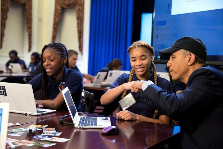 Программирование для каждого: Барак Обама выступил с новой инициативой для американских школ
