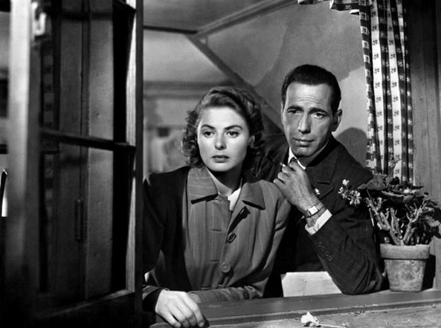Хамфри Богарт и Ингрид Бергман (Касабланка, 1942)