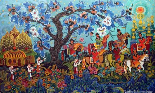 Выставка мастера петриковской росписи Марфы Тимченко