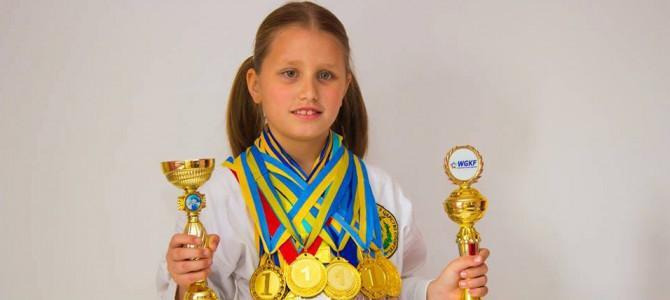 Девятилетняя украинка победила на Кубке Мира по каратэ