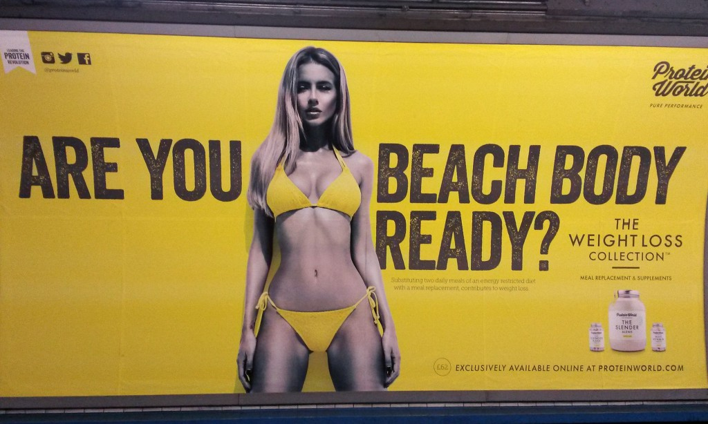 Beach body poster row