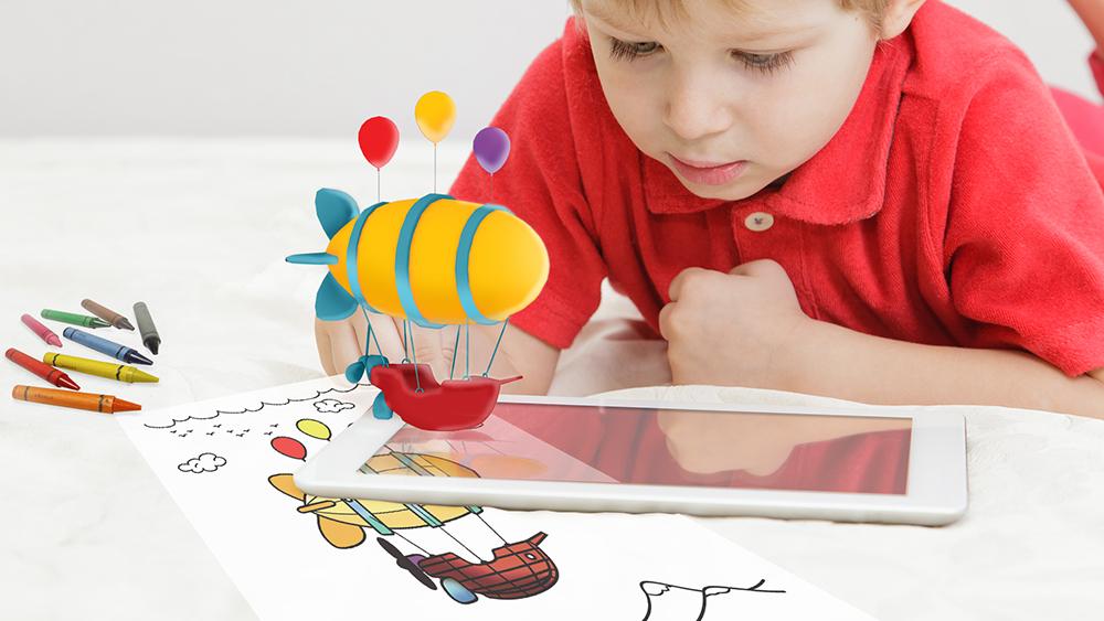 WoMo-находка: Оживающие раскраски 3D