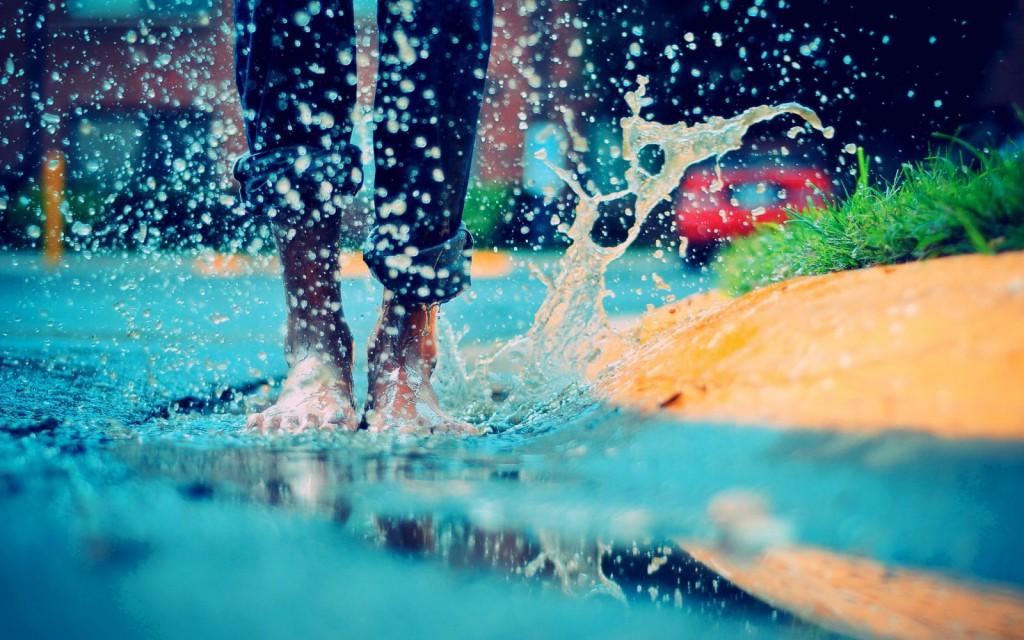 вода ноги