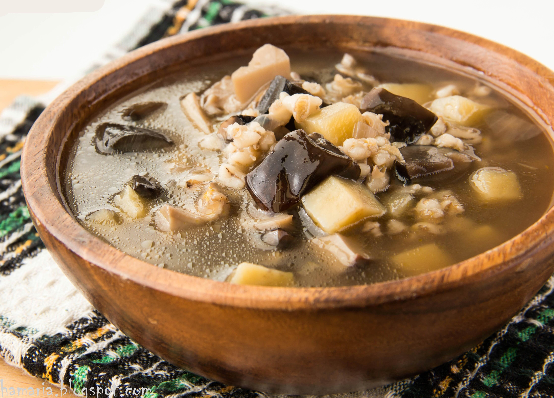 Грибной суп из сушеных грибов с перловкой рецепт