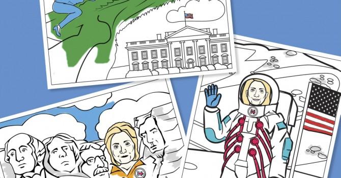 WoMo-находка: Раскрась Хиллари Клинтон онлайн