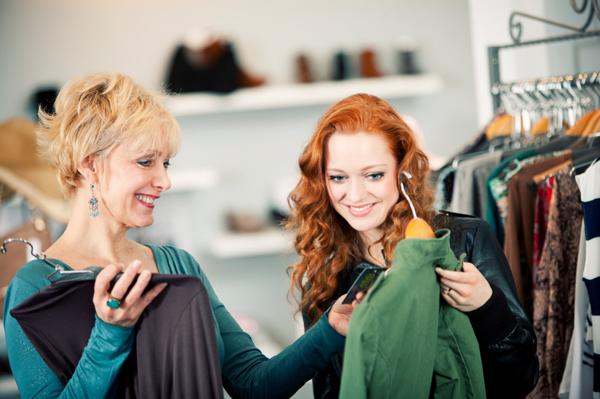 шоппинг мама дочка