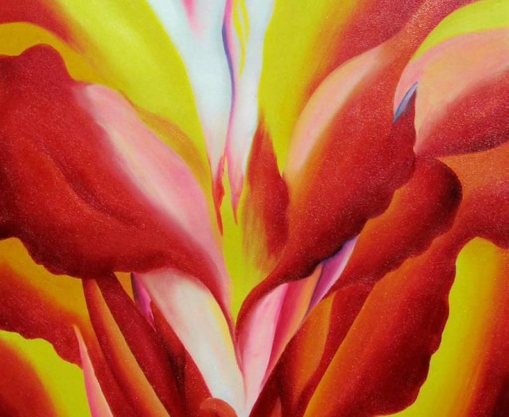 Джорджия О'Кифф. Цветы огня. 1927 г.