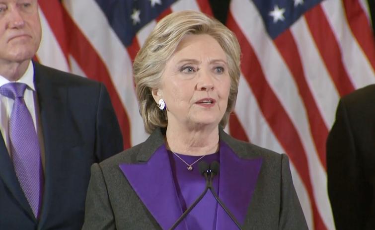 """Хиллари Клинтон: """"Мы не разбили этот стеклянный потолок, но, надеюсь, кому-то это удастся раньше, чем мы думаем"""""""