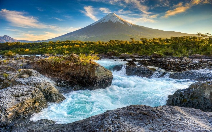 241669-landscape-nature-sunset-volcano-snowy_peak-river-trees-clouds-chile-rapids-mountain-736x459