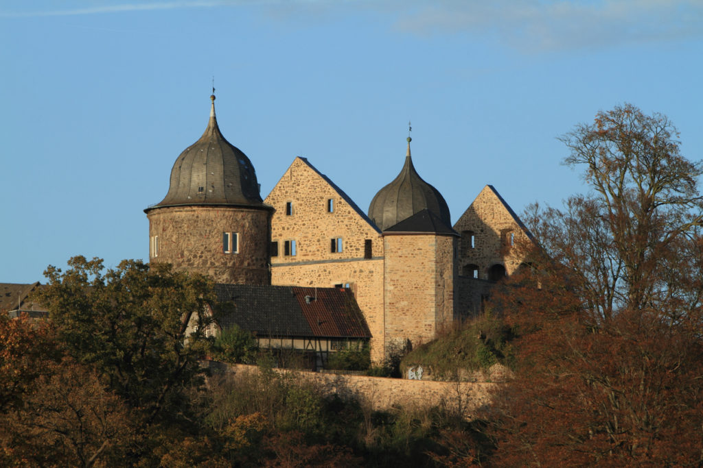 Sababurg, Germany - November 1, 2014: The Castle of Sababurg in the Autum Forest of Reinhardswald
