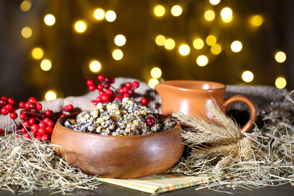 Bowl with kutia - traditional Christmas sweet meal in Ukraine, Belarus and Poland, on wooden table, on bright backgroundPot with kutia - traditional Christmas sweet meal in Ukraine, Belarus and Poland, on wooden table, on bright backgroundBowl with kutia - traditional Christmas sweet meal in Ukraine, Belarus and Poland, on wooden table, on bright backgroundPot with kutia - traditional Christmas sweet meal in Ukraine, Belarus and Poland, on wooden table, on bright background