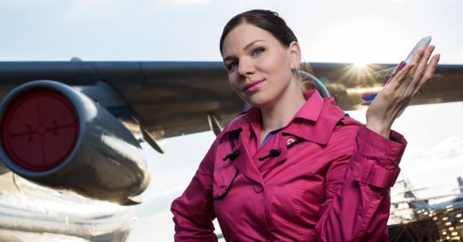 Небесная девушка: Анна Загария о профессии стюардессы