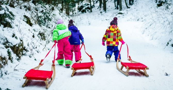 На лыжах: Три идеи для зимнего отдыха ребенка