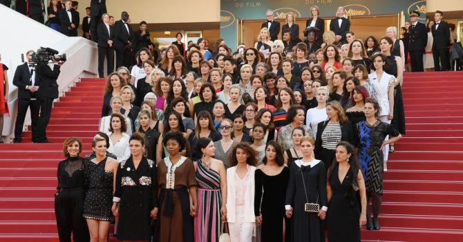 On the Red Carpet: 82 режиссерки приняли участие в акции протеста в Каннах