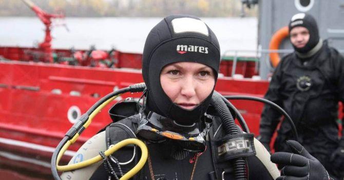 Оксана Чехместренко про роботу водолаза