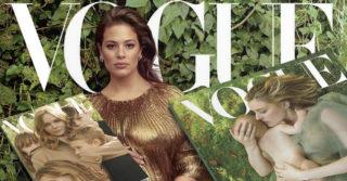 На обложке январского Vogue будет беременная plus-size модель Эшли Грехэм