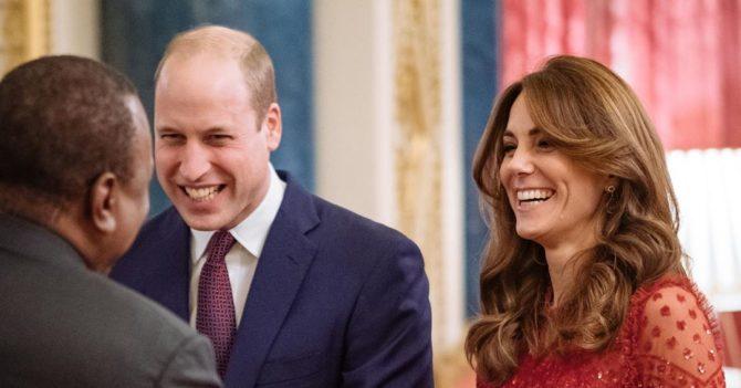Первый приём принца Уильяма и Кейт Миддлтон в роскошном платье