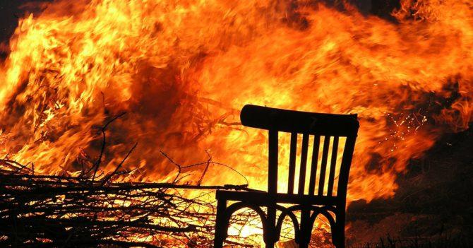 В результате пожара в Житомирской области сгорели 39 дома