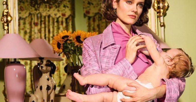 Кормящая мать на обложки польского Vogue