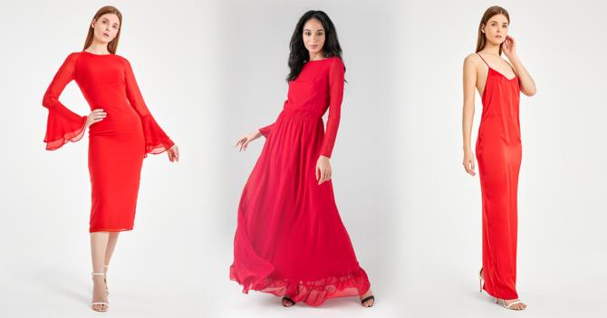 Красный цвет в гардеробе деловой женщине: когда имеет место быть?
