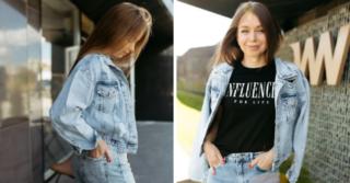 С чем носить джинсовую куртку oversize?