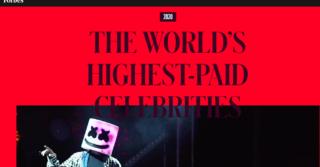 В топ 10 самых высокооплачиваемых звезд по версии Forbes попала одна женщина