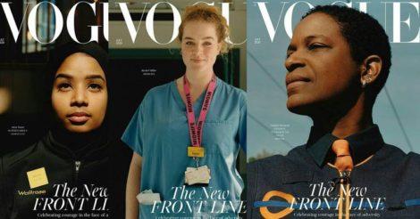 Акушерка, продавец супермаркета и водитель поезда на обложке британского Vogue