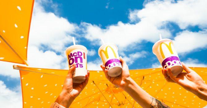 McDonald's отказался от использования пластиковых стаканов