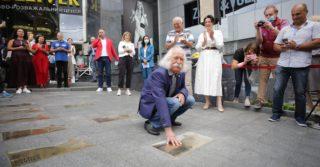 В Києві на «Площі зірок» відкрили зірку всесвітньо відомому художнику Івану Марчуку