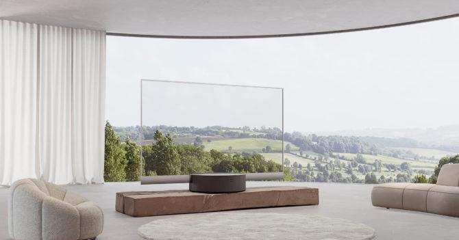 Одесские дизайнеры создали рекламу для прозрачного телевизора Xiaomi