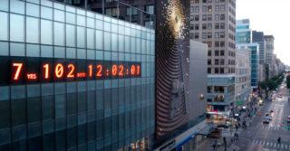 В Нью-Йорке поставили часы, которые отсчитывают время до экологической катастрофы
