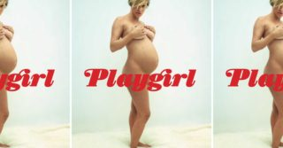 Беременная Хлоя Севиньи на обложке нового издания Playgirl