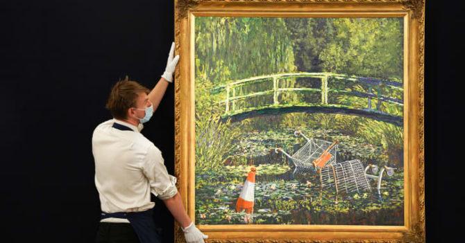 Картину Бенкси «Покажите мне Моне» продали за $10 млн