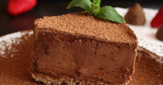 Мега-шоколадный трюфельный торт без выпечки